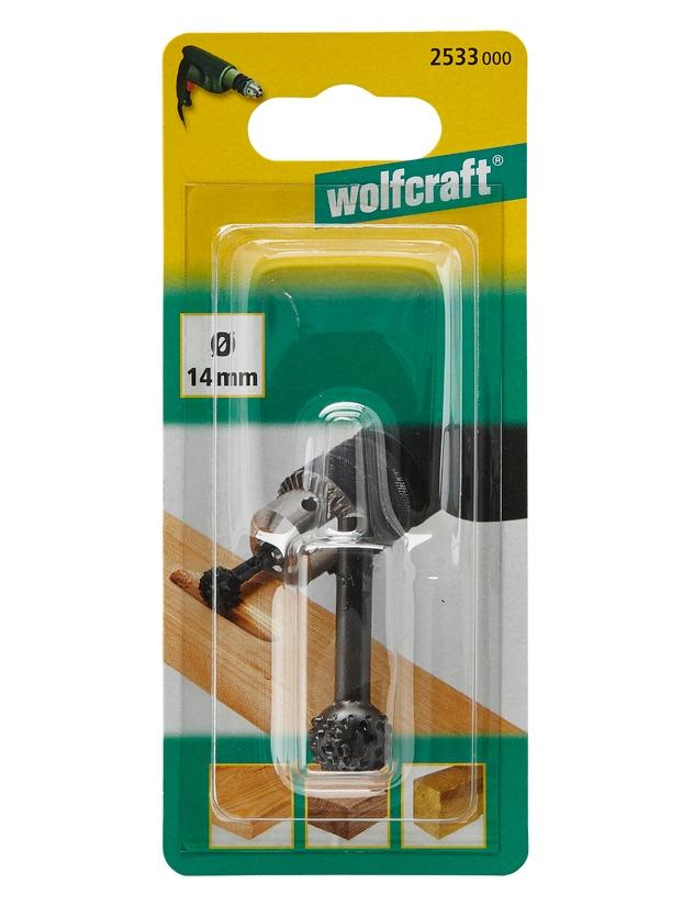 Wolfcraft Wolfcraft rašple 14 mm koule stopka 6 mm/dřevo 2533000