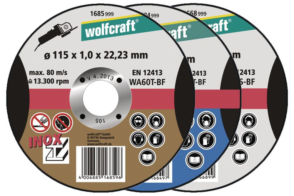 Wolfcraft Wolfcraft řezací kotouč ø115x1,0x22,2mm INOX 1685999