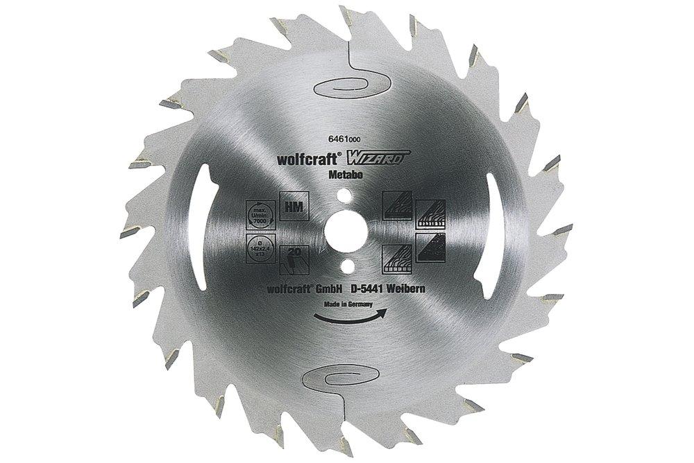 Wolfcraft Wolfcraft pilový kotouč – podélné řezy ø190x16 Z24 6475000