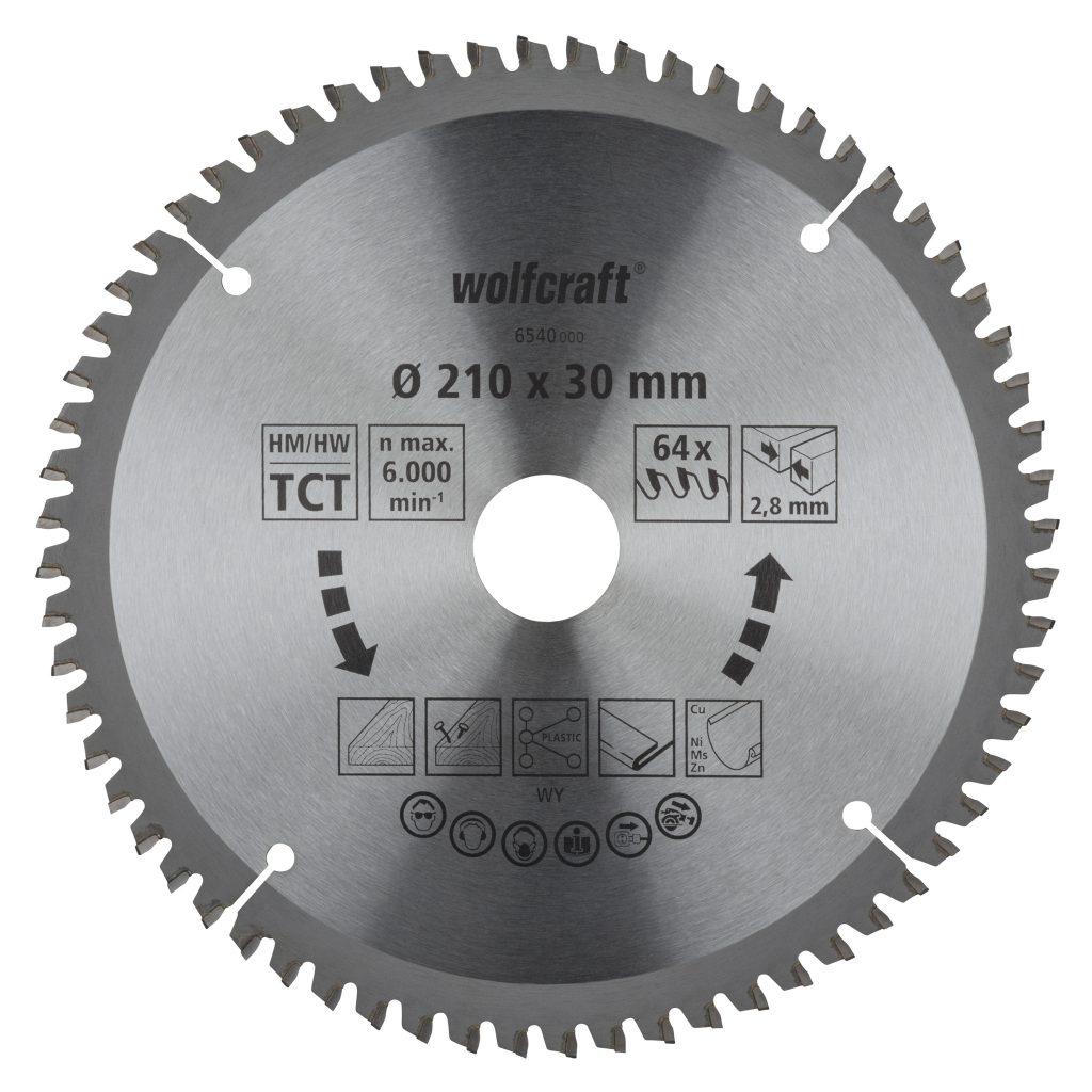 Wolfcraft Wolfcraft pilový kotouč pro pokos.pily přesné řezy ø216x30 Z64 6541000