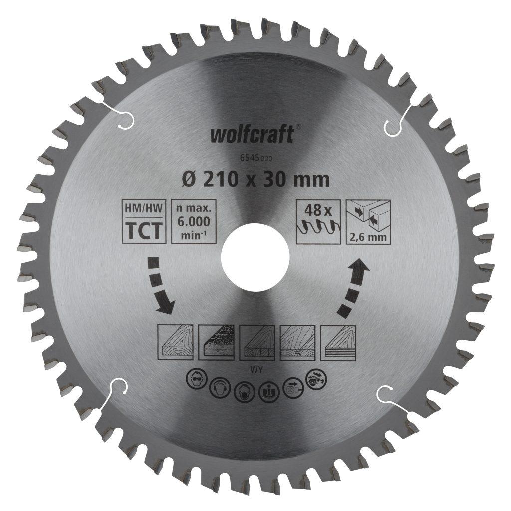Wolfcraft Wolfcraft pilový kotouč pro pokos.pily čisté řezy ø254x30 Z48 6548000