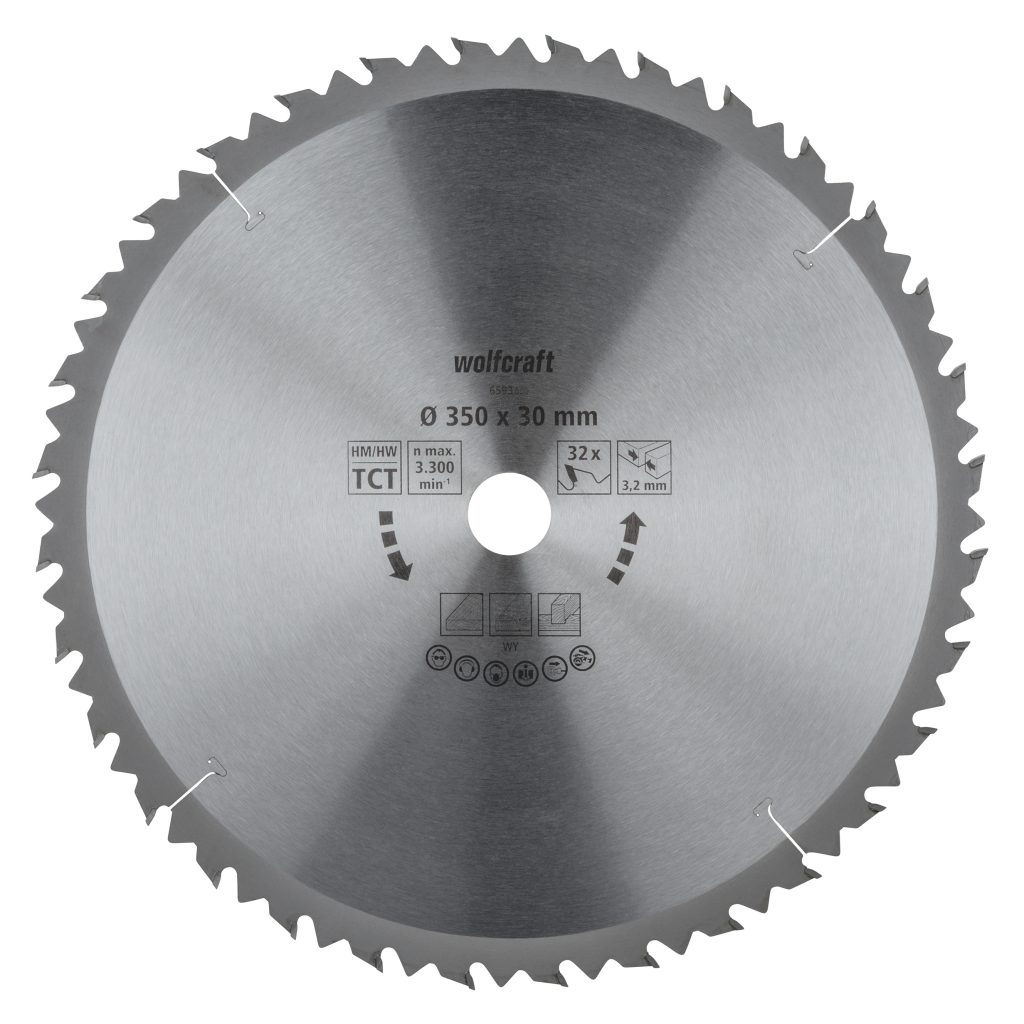 Wolfcraft Wolfcraft pilový kotouč pro cirkulárky hrubé řezy, pr. 450x30 Z40 6595000