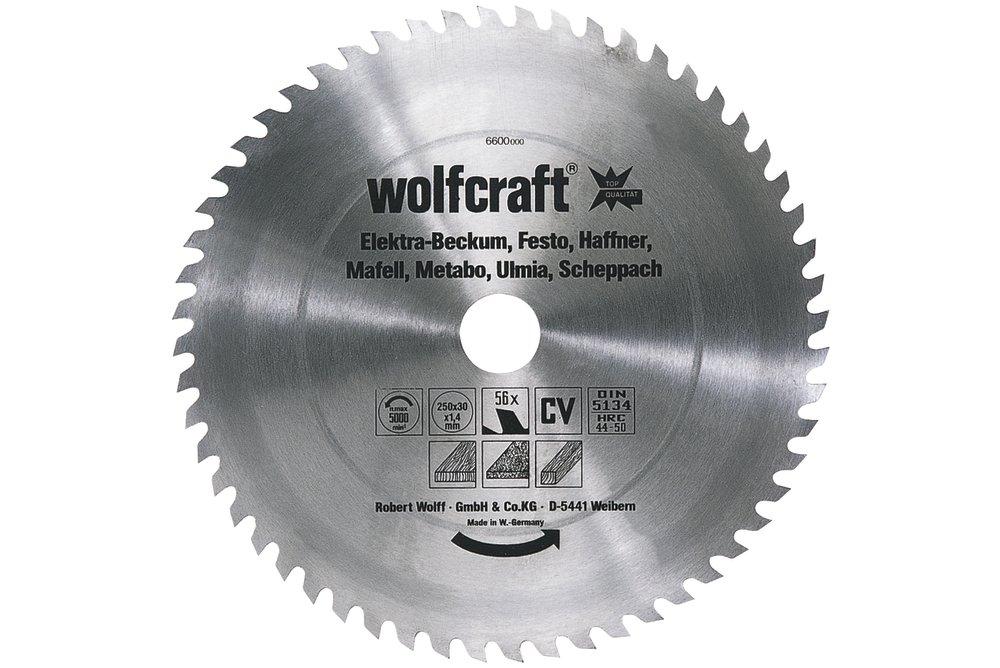 Wolfcraft Wolfcraft pilový kotouč pro cirkulárky středně hrubé řezy,pr. 315x30 Z56 6604000