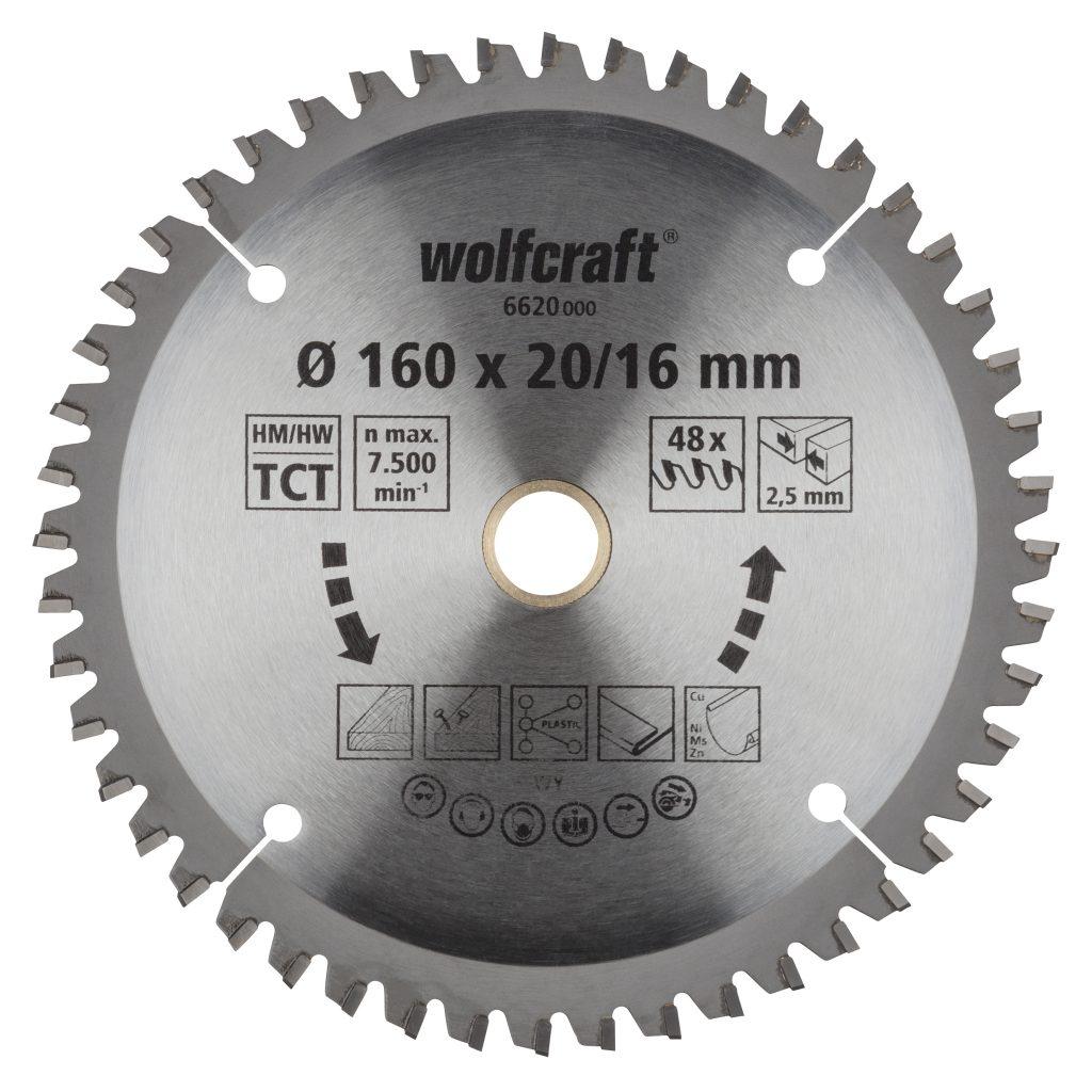 Wolfcraft Wolfcraft pilový kotouč jemné řezy ø165x20,16 Z48 6621000