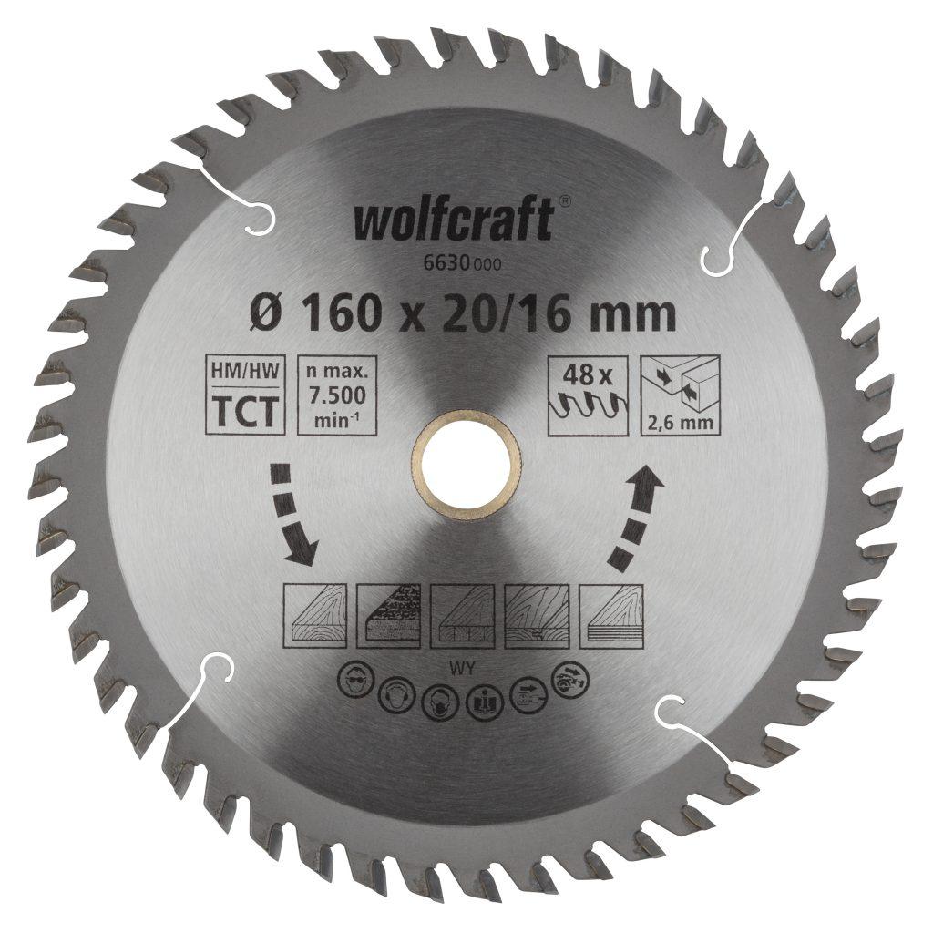 Wolfcraft Wolfcraft pilový kotouč čisté řezy ø190x30 Z56 6634000