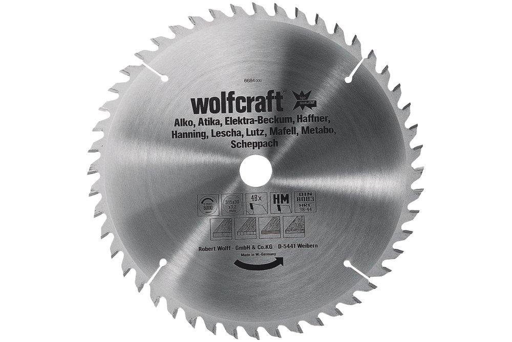 Wolfcraft Wolfcraft pilový kotouč pro cirkulárky jemné, čisté řezy, pr. 350x30 Z54 6686000