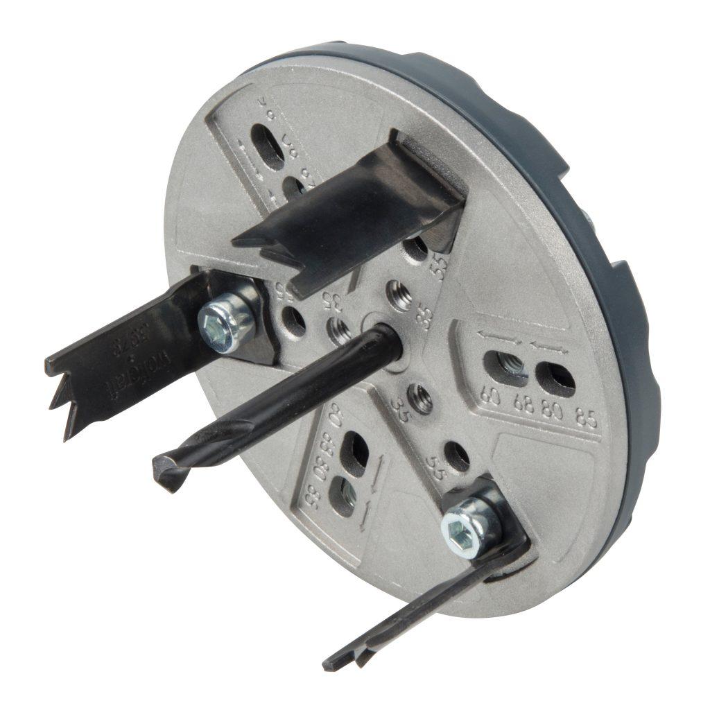 Wolfcraft Wolfcraft nastavitelná děrovka pro bodová světla 35-80 mm 5986000
