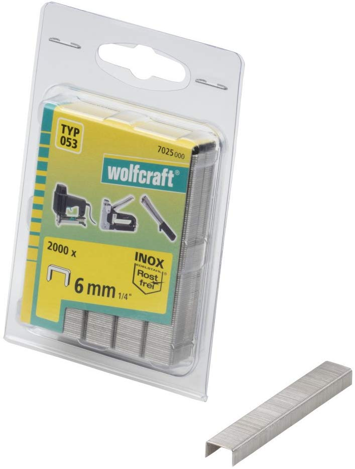 Wolfcraft Wolfcraft Široké sponky do sponkovačky výška 6 mm 2000 ks  7025000