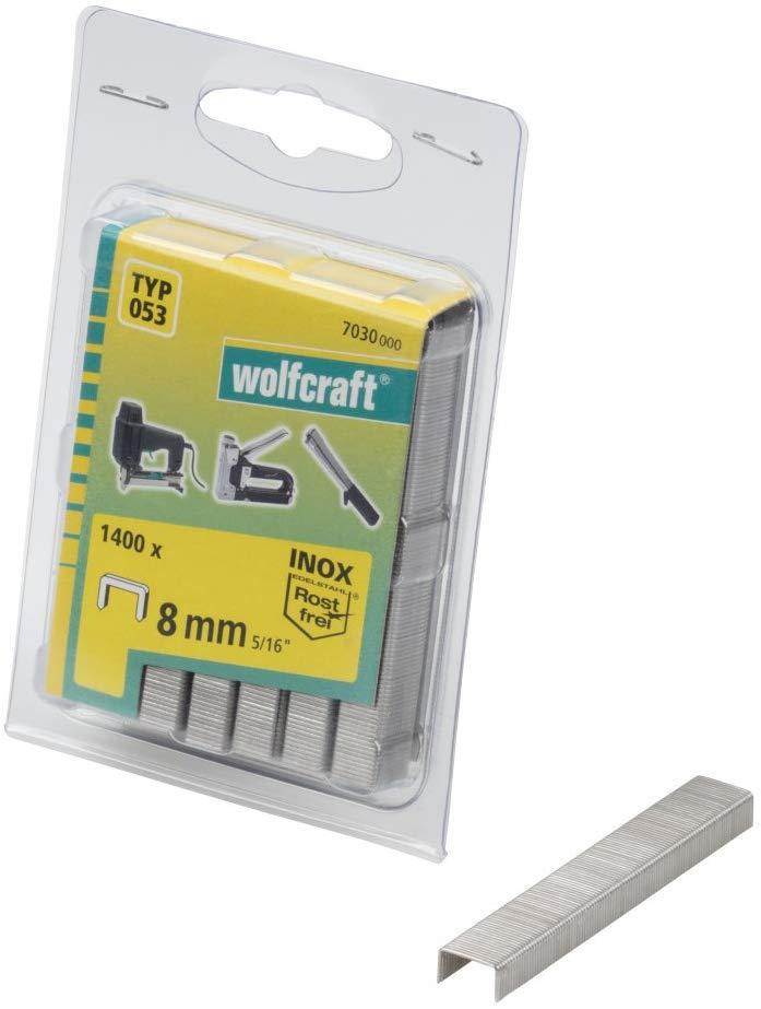 Wolfcraft Wolfcraft Široké sponky do sponkovačky výška 8 mm 1400 ks  7030000