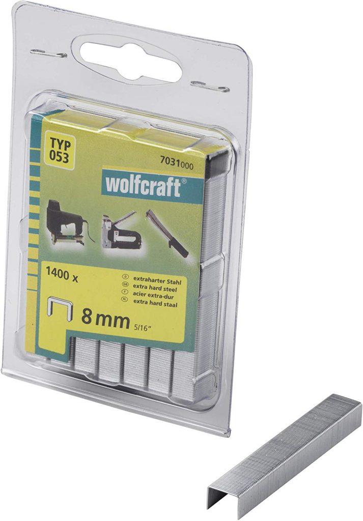 Wolfcraft Wolfcraft Široké sponky do sponkovačky výška 8 mm 1400 ks  7031000