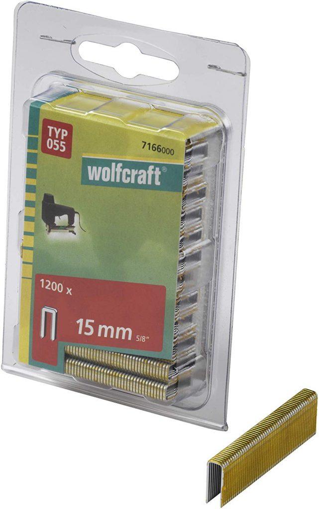 Wolfcraft Wolfcraft Úzké sponky do sponkovačky výška 15 mm 1200 ks  7166000