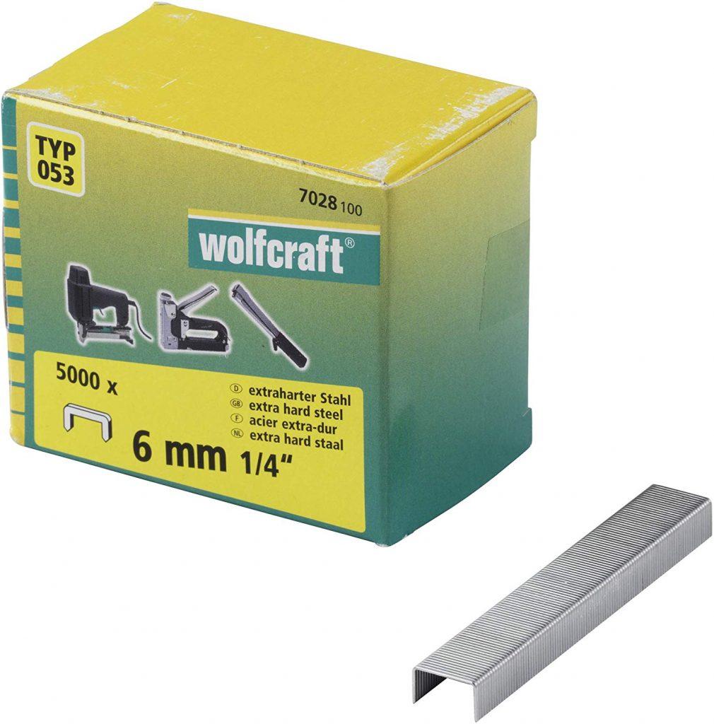Wolfcraft Wolfcraft Široké sponky do sponkovačky výška 6 mm 5000 ks  7028100