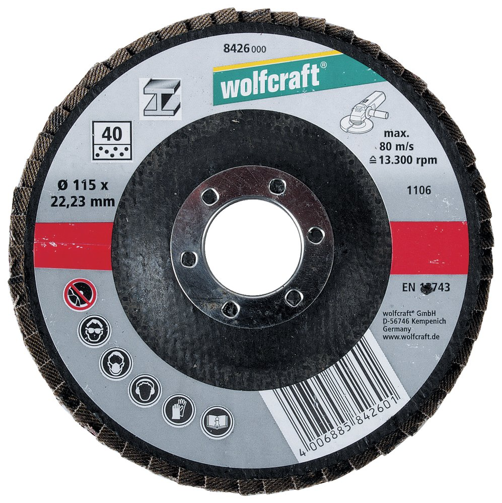 Wolfcraft Wolfcraft lamelový brusný talíř ø 115 mm 8426000