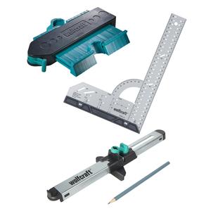 Wolfcraft Wolfcraft sada pro přesnou montáž laminátových podlah - úhelník, obrys.šablona, zalícovávač 6976000